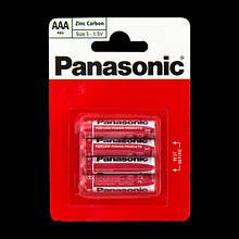 """Батарейки """"PANASONIC"""" RED R03 BLI (4 шт/уп) Zink Carbon (мизинец)"""