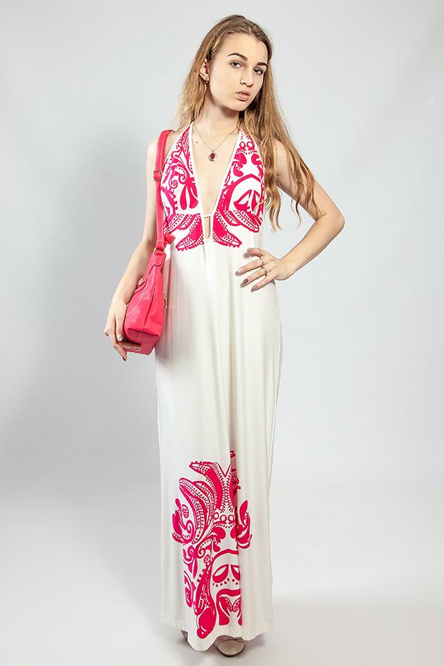 Женское платье-сарафан в пол летнее  пляжное оригинальное Snake Milano