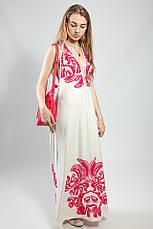 Женское платье-сарафан в пол летнее  пляжное оригинальное Snake Milano, фото 2