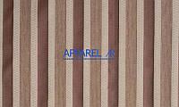 Мебельная ткань MARSEL STRIPE BROWN  жаккард (производство Аппарель)