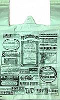 Пакет майка 40х60 см, с газетным рисунком