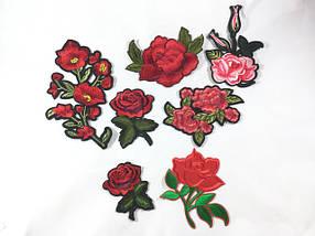 Нашивки Цветы (Розы,Ромашки,Маки,ветки из цветов)