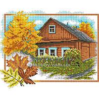 Схема для вышивания бисером Осенний домик БИС3-98 (А3)