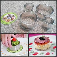 Металлические формы для оформления салатов,вырубки пельменей и вареников.