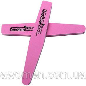 Пилка  баф SunShine 100/180  мягкая цветная (розовая)