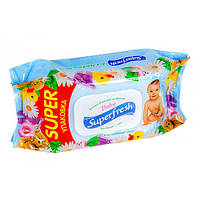 Влажные салфетки Superfresh с клапаном (120шт/уп)