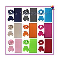 Трикотажный шарф-снуд под заказ (от 50 шт)