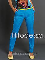 Брюки-Чинос голубой до 52р, фото 1