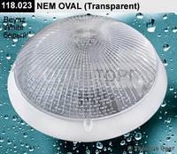 Светильник пластиковый MIRSA Світильник MIRSA пласт. NEM OVAL IP65 білий/проз (1/10)
