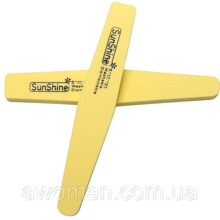 Пилка баф SunShine 100/180 м'яка кольорова (жовта)