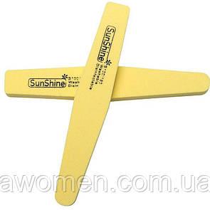 Пилка  баф SunShine 100/180  мягкая цветная (желтая)