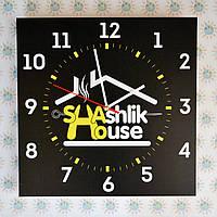 Часы настенные квадратные С вашим логотипом