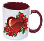 Чашка с Вашим дизайном MUG2T-I, цветная внутри и ручка, фото 2