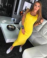Платье с 3д принтом Живанши желтое
