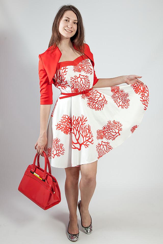 Женское платье-сарафан летнее  на бретелях Rinascimento коттоновый белый, XL