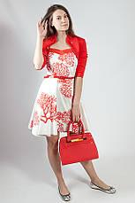 Женское платье-сарафан летнее  на бретелях Rinascimento коттоновый белый, XL, фото 2