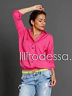 Блуза на резинке малиновый, фото 1