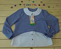 Нарядная блузка  для девочки на рост 116-152