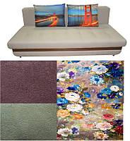 Прямой диван с цветочным рисунком Бали с МДФ панелью