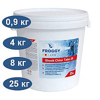 Быстрорастворимый хлор Shock Chlor Tabs 20 FROGGY (в таблетках)