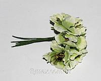 """Искусственные цветы  """"мак"""" 4 см. ( 60 штук). Зеленый"""