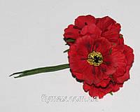 """Искусственные цветы  """"мак"""" 4см. ( 60 штук). Красный"""