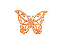 Бабочки 6см оранжевые, 12шт
