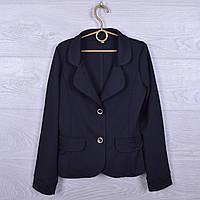 """Школьный пиджак """"Классика"""" для девочек. 116-140 см. Черный. Школьная форма оптом"""