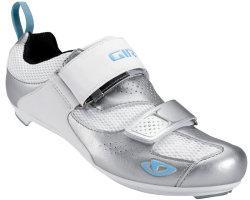 Женские велотуфли Giro FLYNT TRI silver для триатлона, 39 размер (24,3 см)