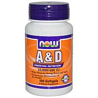 NOW Foods A&D 10000/400 IU 100 softgels
