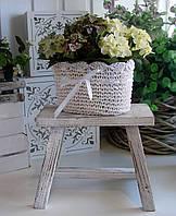 Декор для дома и сада Табурет прямоугольный декоративный деревянный.
