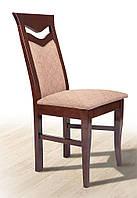 Стул деревянный буковый с мягким сиденьем и спинкой Ситроен, темный орех, ткань Luiziana-5