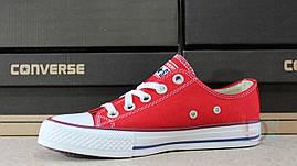 Кеды Converse Red All Stars Chuck Taylor женские подростковые красные Конверс реплика Вьетнам