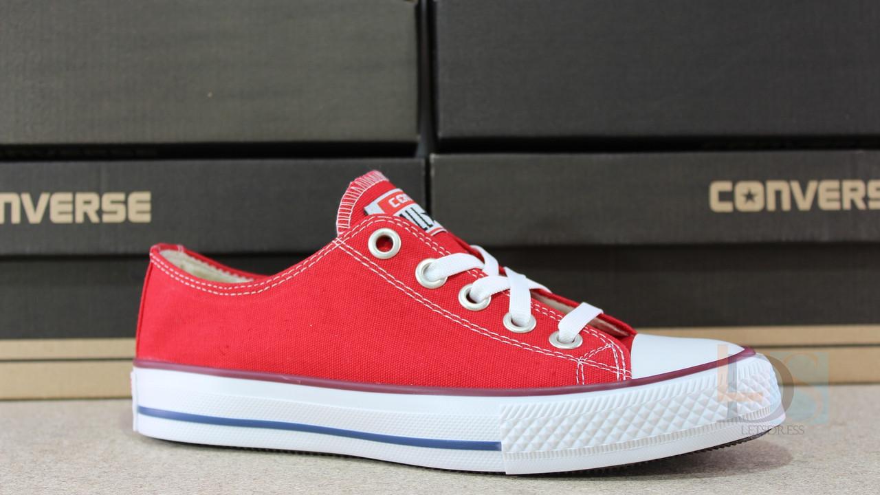 Кеды Converse красные кеды мужские Конверз b71026321106c