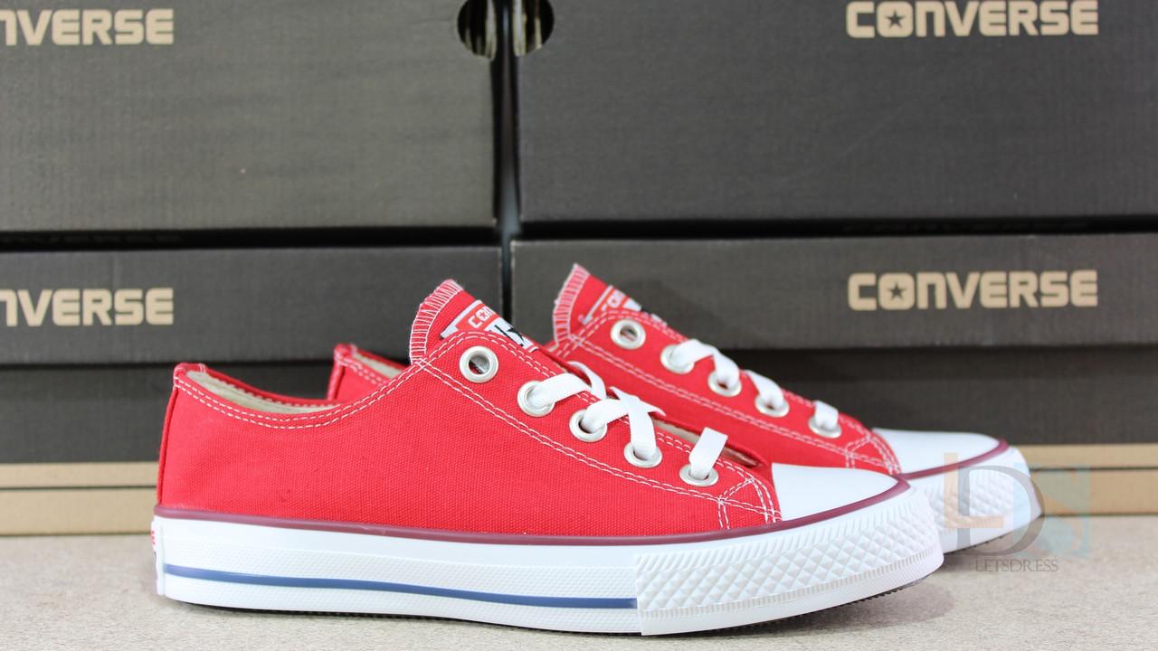 ... Кеды Converse Red All Stars Chuck Taylor женские подростковые красные  Конверс реплика Вьетнам, ... 53fc42c841c