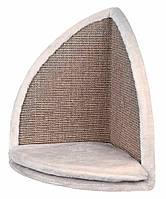 Когтеточка Trixie Scratching Board for Corners для кошек угловая с сидением, 35х50х35 см