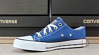 Сині кеди Converse жіночі підліткові All Star Blue, фото 1