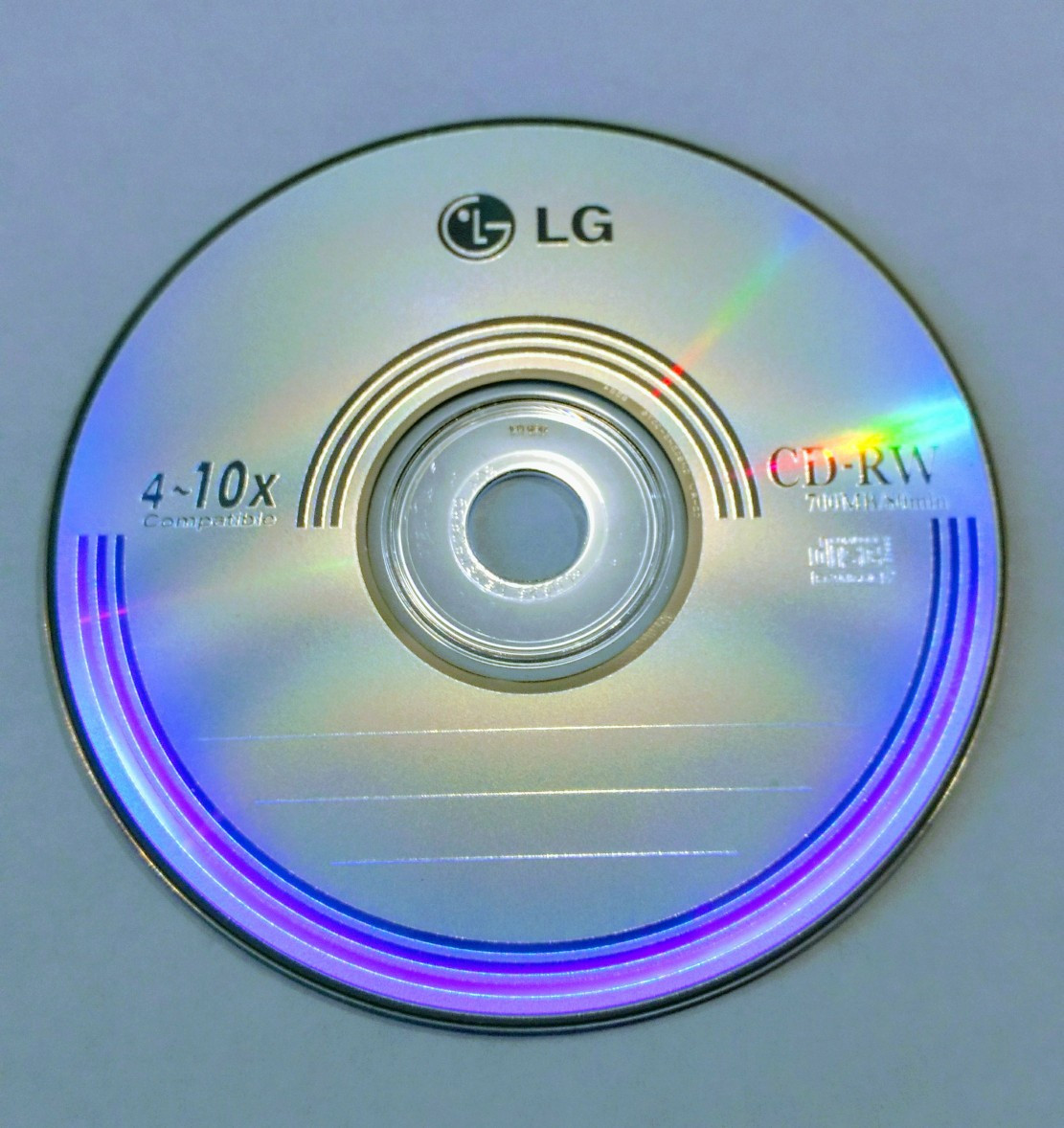 Диск CD-RW LG 700MB/80min 4-10x