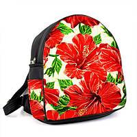 """Рюкзак с принтом """"Красные цветы"""""""