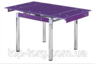 Стол ТВ-21 фиолетовый +хром 800х650мм, 1300х650мм