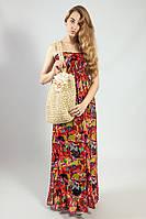 Платье-сарафан в пол летний цветной красивый пляжный  Mela loves London