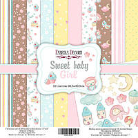 Набор бумаги для скрапбукинга Фабрика  декора - Sweet Baby Girl, 30,5x30,5 см, 10 листов