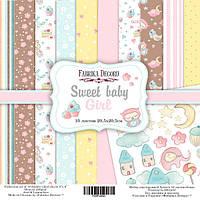 Набор бумаги для скрапбукинга Фабрика  декора - Sweet Baby Girl, 20,5x20,5 см, 10 листов