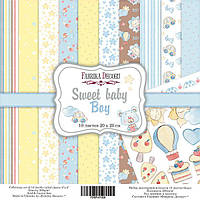 Набор бумаги для скрапбукинга Фабрика  декора - Sweet Baby Boy, 20,5x20,5 см, 10 листов