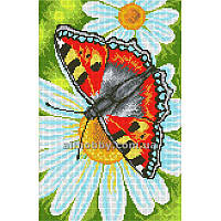 Схема для вышивания бисером Бабочка на ромашке БИС3-105 (А3)