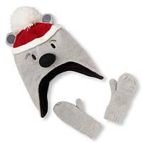 Шапка детская рукавички детские комплект набор девочке мальчику Childrens Place