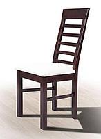 Стул деревянный буковый с мягким сиденьем Лидер, темный орех, ткань Portland 21