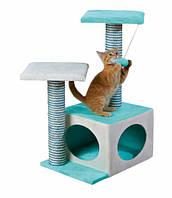 Когтеточка Trixie Neo Scratching Post для кошек с домиком, 44х33х71 см, фото 1