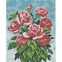 Схема для вышивания бисером Букет красных роз БИС4-69 (А4) Габардин