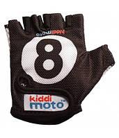 Велоперчатки детские Kiddimoto бильярдный шар, чёрные (BB)